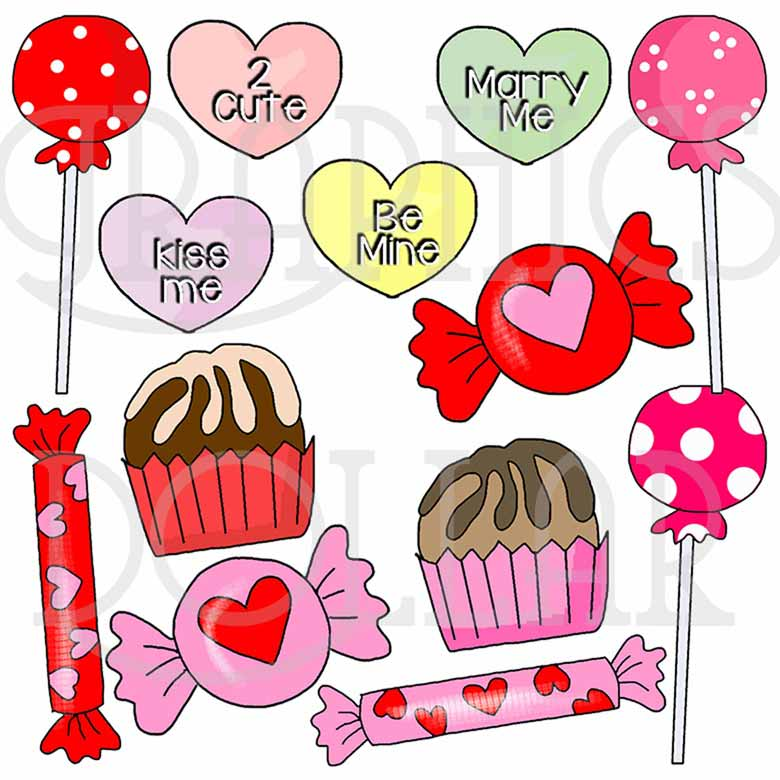 Sweet Valentine Candy Clip Art