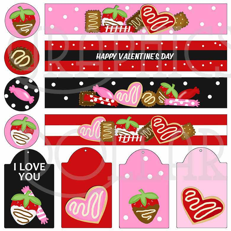 Sweet Valentine Mason Jar Set