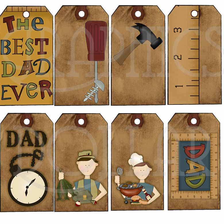Tags for Dad Clip Art