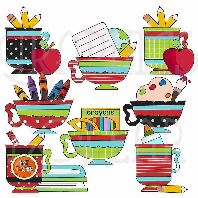 Teacher Mugs Clip Art