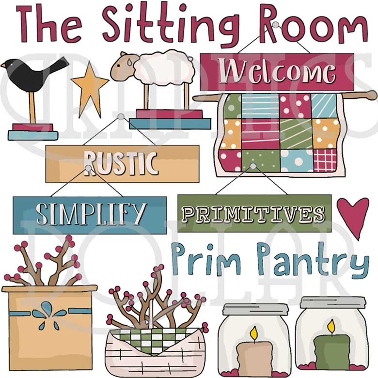 The Prim Pantry Clip Art