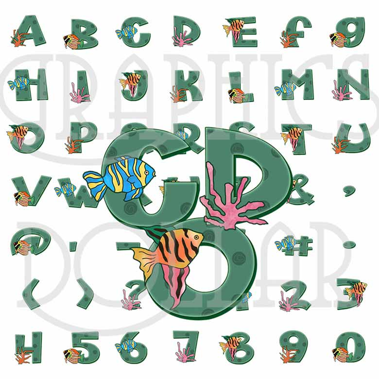Tropical Fish Alphabet