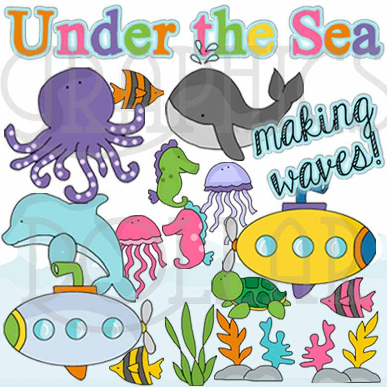 Under the Sea Creatures Clip Art