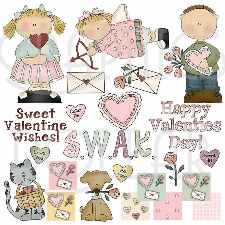 Valentine Wishes Clip Art