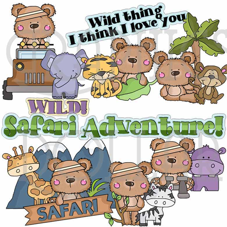 Wild Thing Safari Clip Art