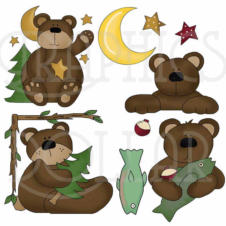 Woodsy Bear Clip Art