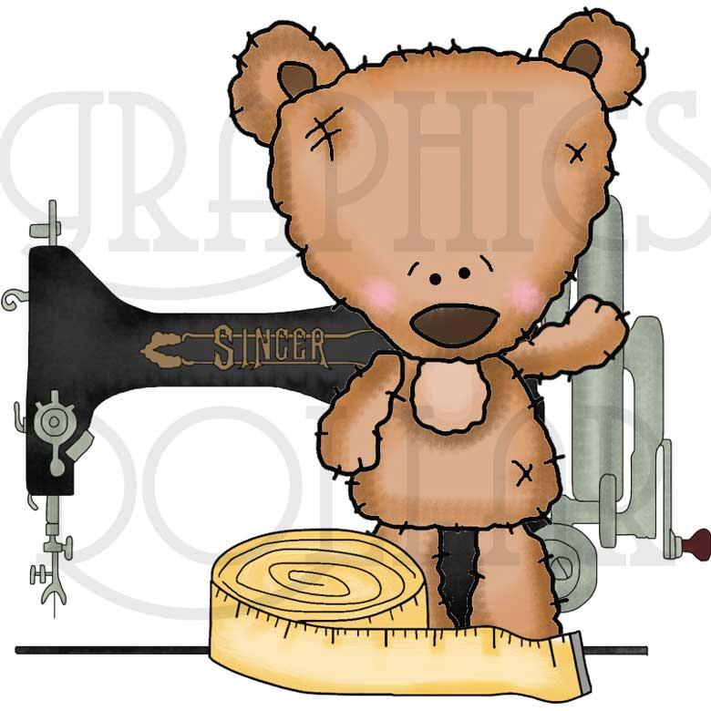 Mohair Bear Sew Happy Clip Art