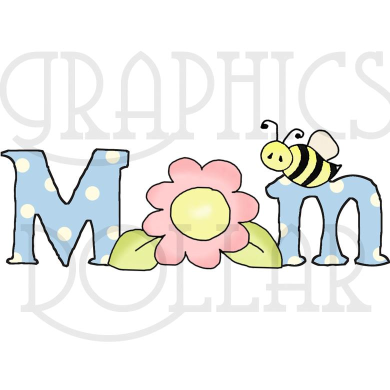 Mom Word Art - Graphics Dollar