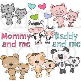 Mommy and Me Clip Art