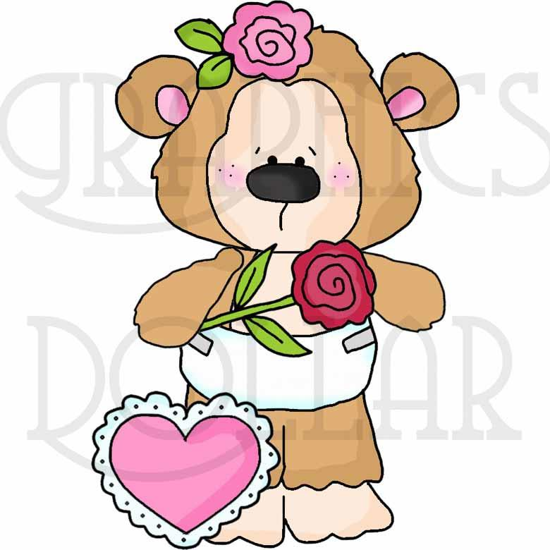 Monkey Love Valentines Clip Art