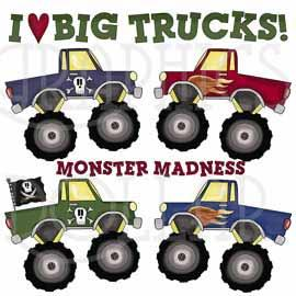 Monster Truck Madness Clip Art