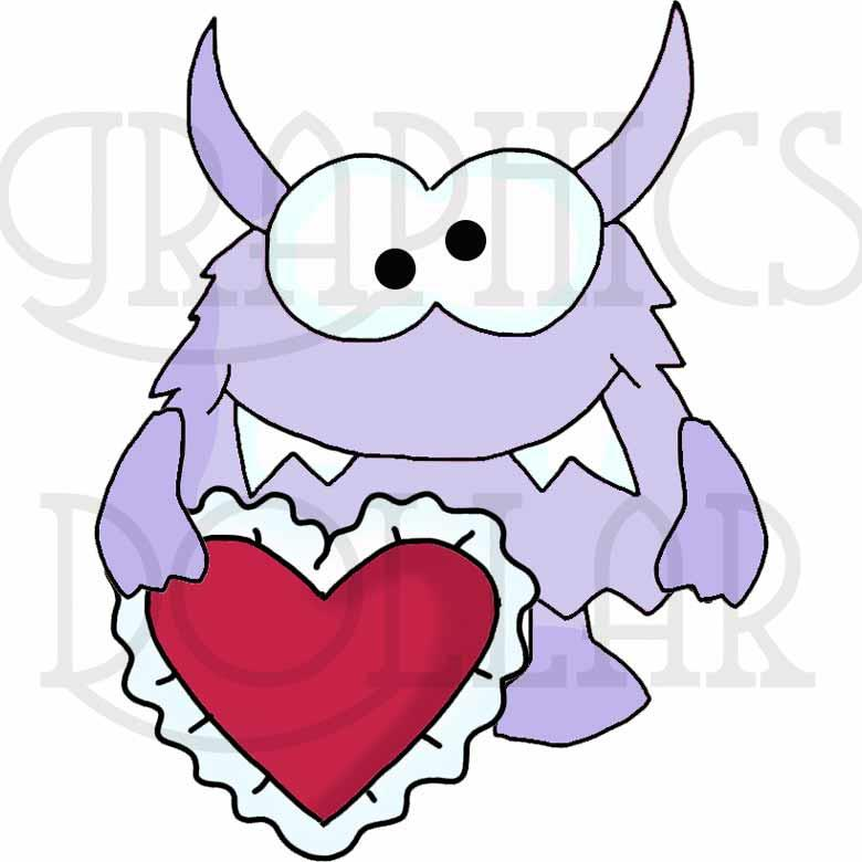 Monster Valentines Exclusive Clip Art