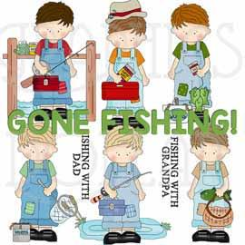 My Little Guy Goes Fishing Exclusive Clip Art