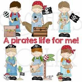 My Little Guy Loves Pirates Exclusive Clip Art