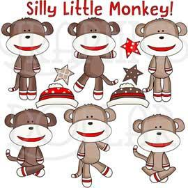 My Sock Monkey Clip Art