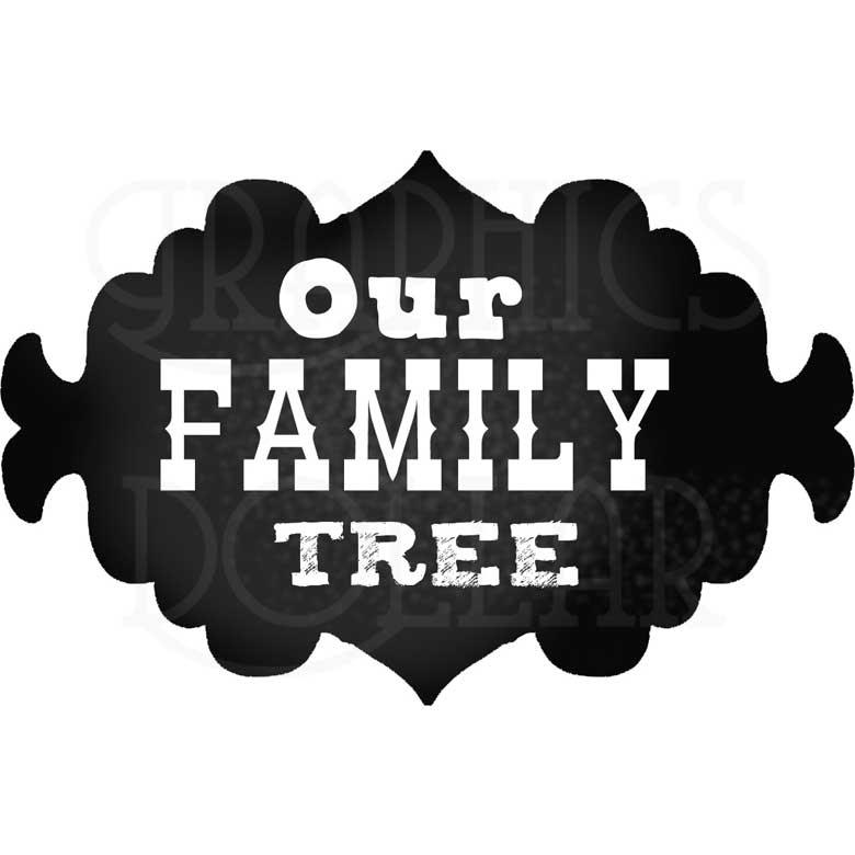 Our Family Tree Chalkboards Clip Art