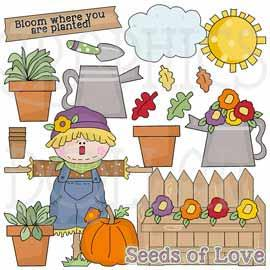 Plant Seeds of Love Clip Art