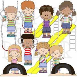 Playground Kids Clip Art