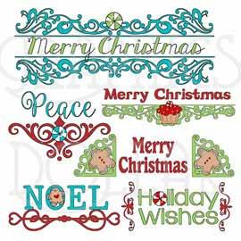 Pretty Christmas Text Clip Art