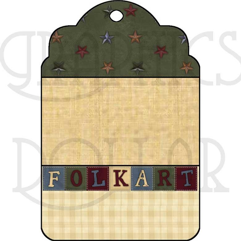Pretty Folk Art Tags