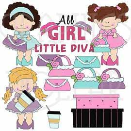 Pretty Little Divas Clip Art
