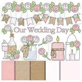 Pretty Wedding Clip Art