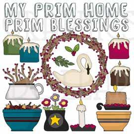 Prim Blessings Clip Art