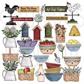 Prim Country Too Collection Clip Art
