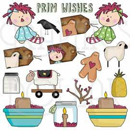 Prim Wishes Clip Art