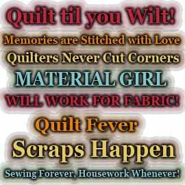 Quilting and Sewing WordArt