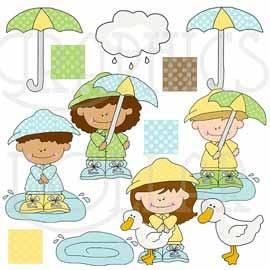 Rainy Days and Mondays Clip Art