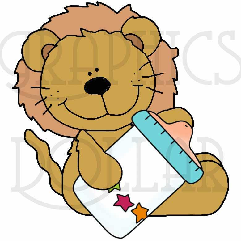 Safari Sitters Sweet Baby Clip Art - Exclusive Graphics