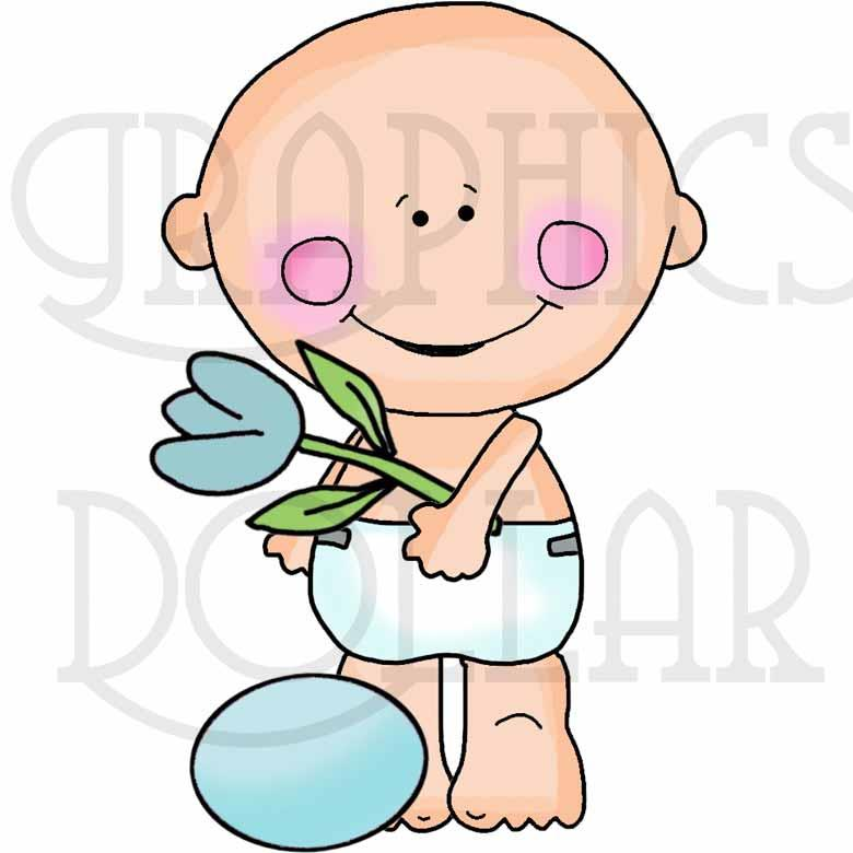 Smiley Baby Easter Clip Art - Exclusive Graphics