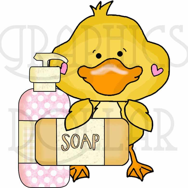 Soapy Sweet Baby Duck Clip Art Set