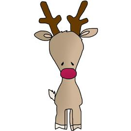 Free Clip Art - Sweet Rudolph