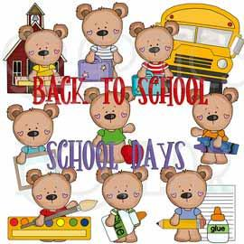 T-shirt Bears Back to School Exclusive Clip Art
