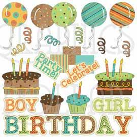Tangerine Dreams Birthday Clip Art