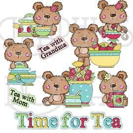 Tea Time Bears Clip Art