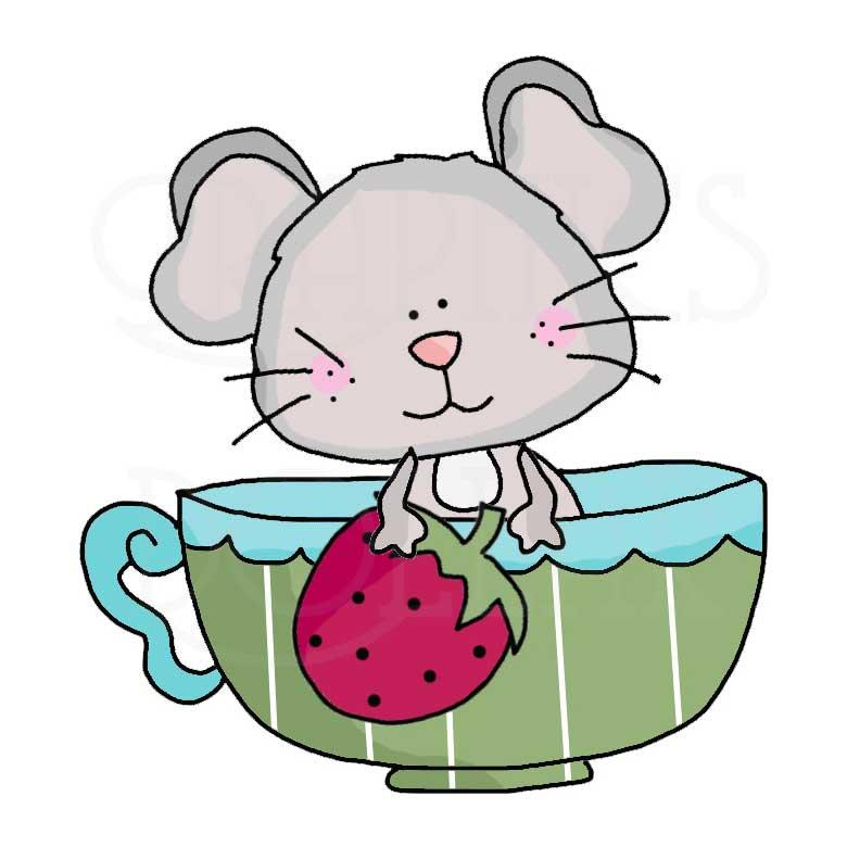 Teacup Mice Clip Art