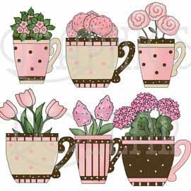 Teacups and Flowers