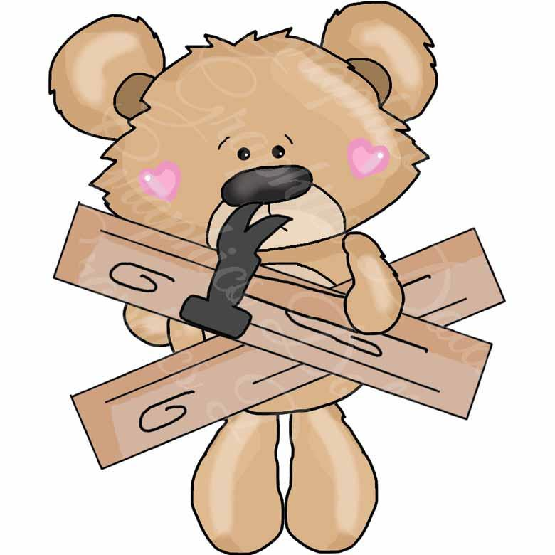 Teddy Loves His Treehouse Clip Art
