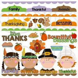 Thanksgiving Blessings Clip Art