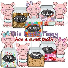 This Little Piggy Has a Sweet Tooth Exclusive Clip Art
