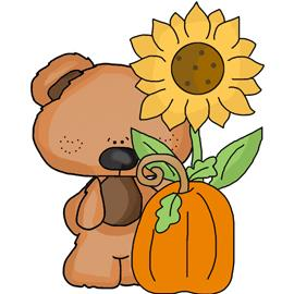 Free Clip Art - Tiny Pumpkin Patch Bear