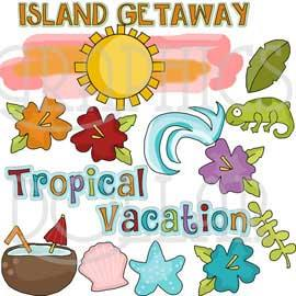Tropical Vacation Clip Art