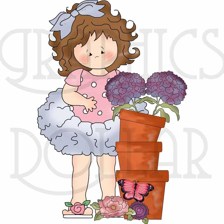 Tutu Girls Fresh Flowers Clip Art