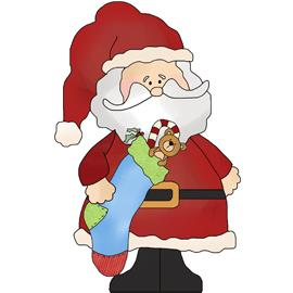 Free Clip Art - Twas the Night Before Christmas Santa