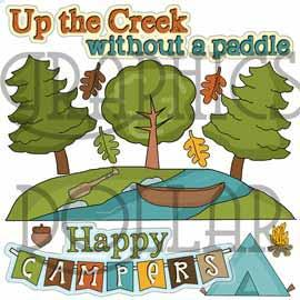 Up the Creek Clip Art