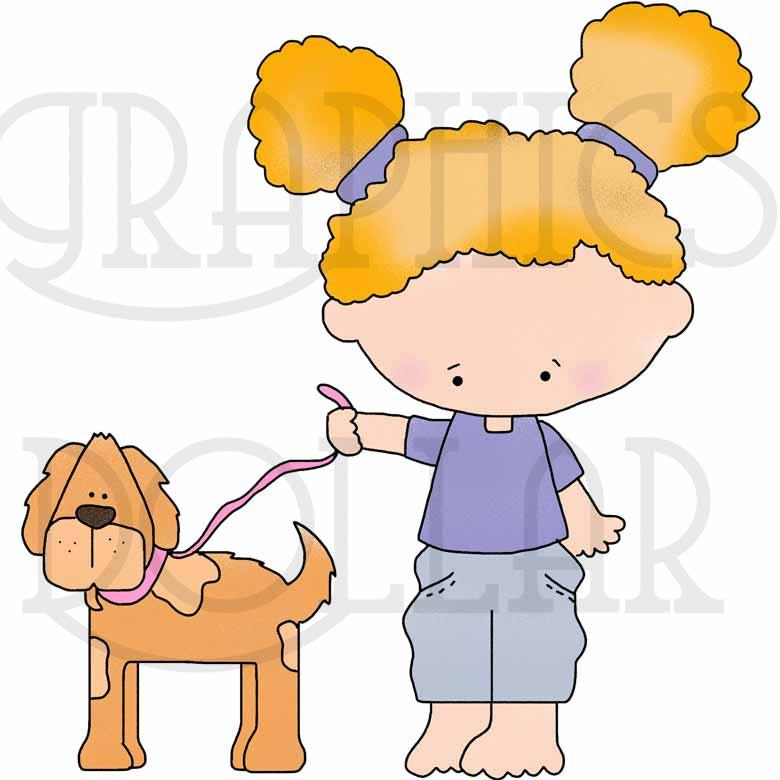 Walking the Dog Clip Art