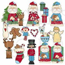Whimsical Christmas Clip Art